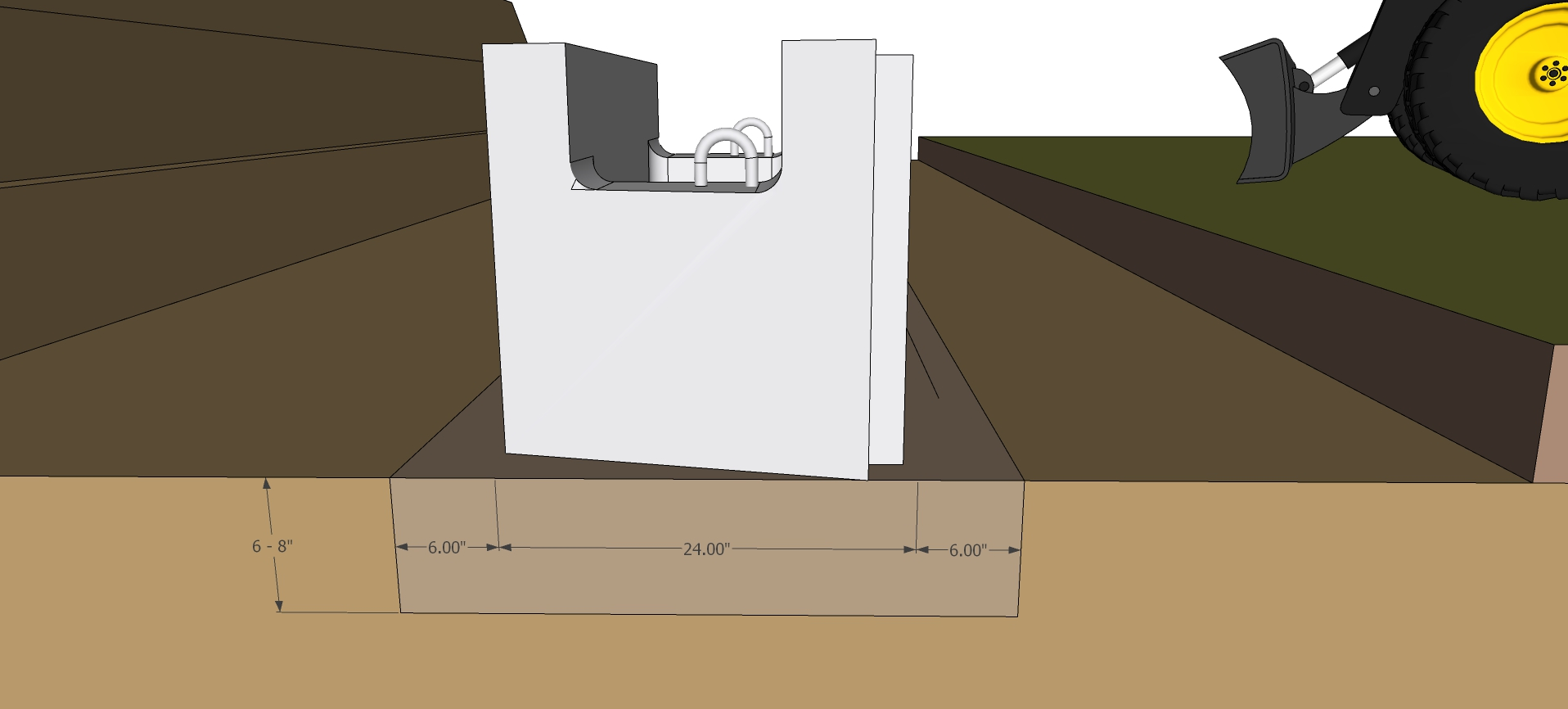 Base gravel measurements for retaining wall