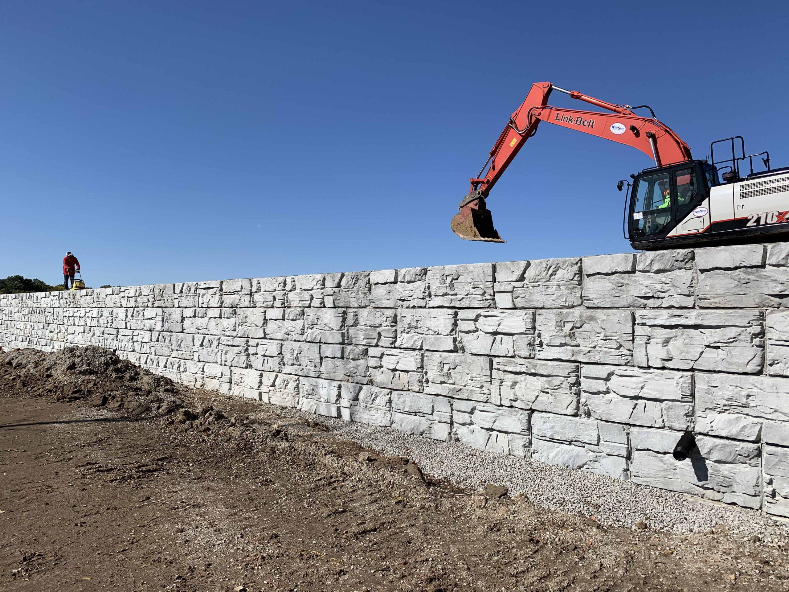 MaxumStone MSE retaining wall