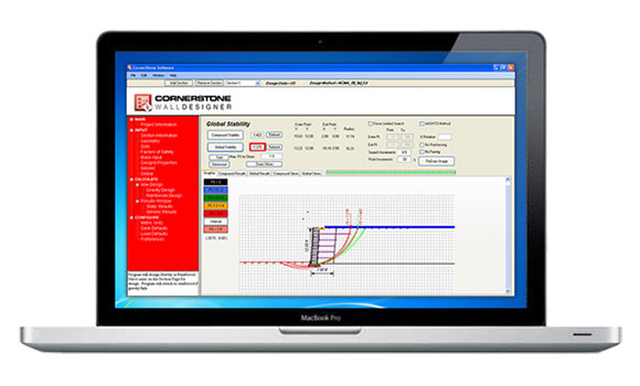 MaxumStone Wall Designer Software Screenshot