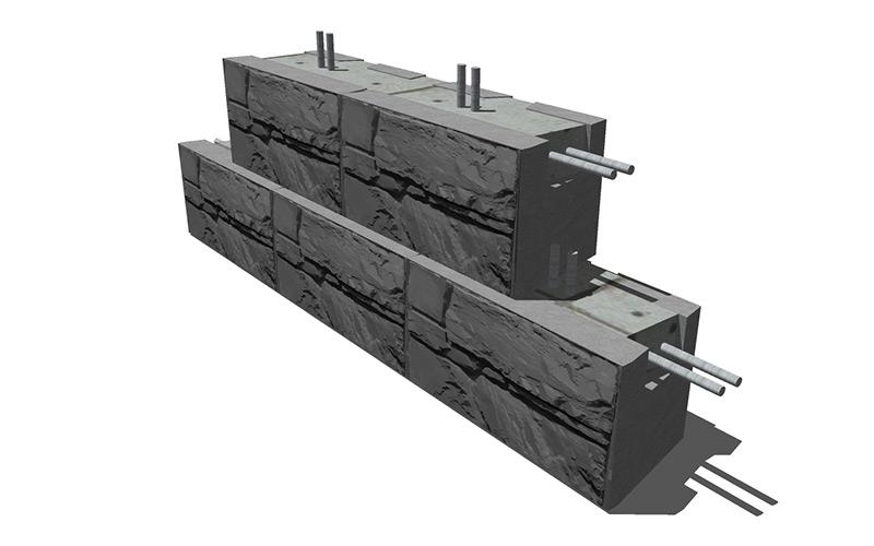 MaxumStone Cantilevered Wall