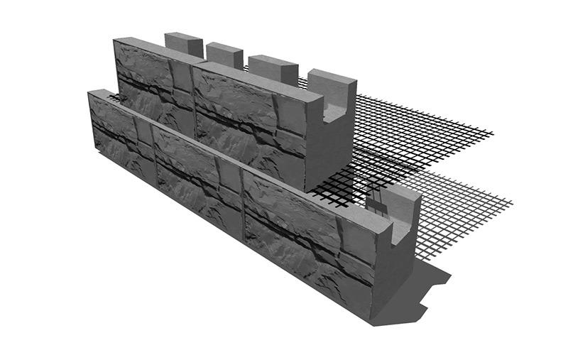 MaxumStone Geogrid Wall