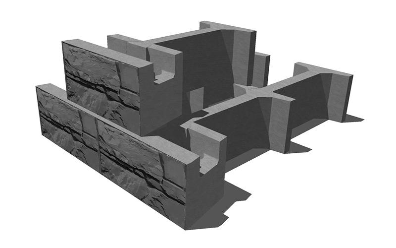 MaxumStone Gravity retaining Wall