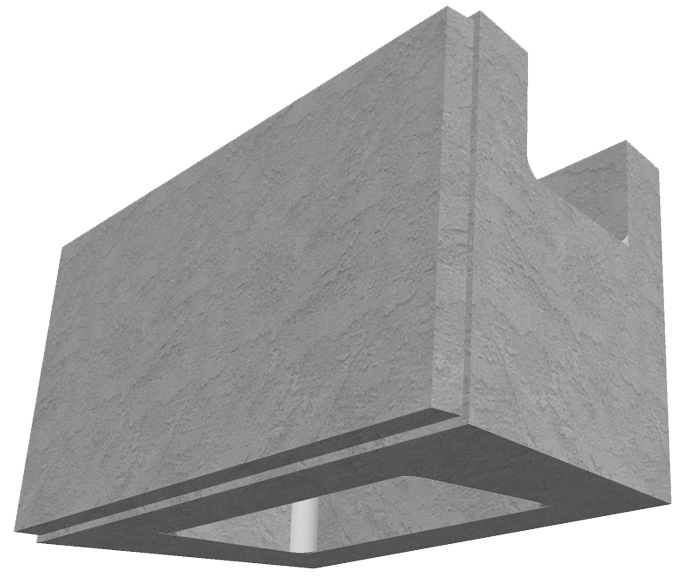 MaxumStone Hollow Core Retaining Wall Block