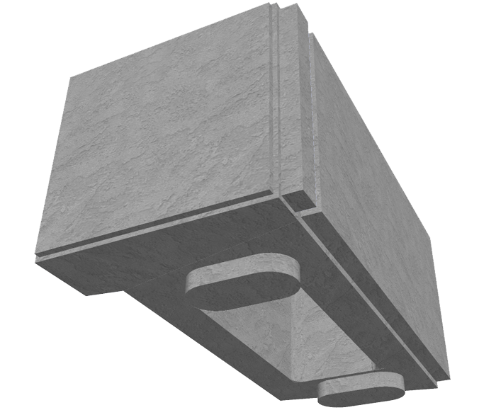 MaxumStone Hollow Core Retaining Wall Corner Unit
