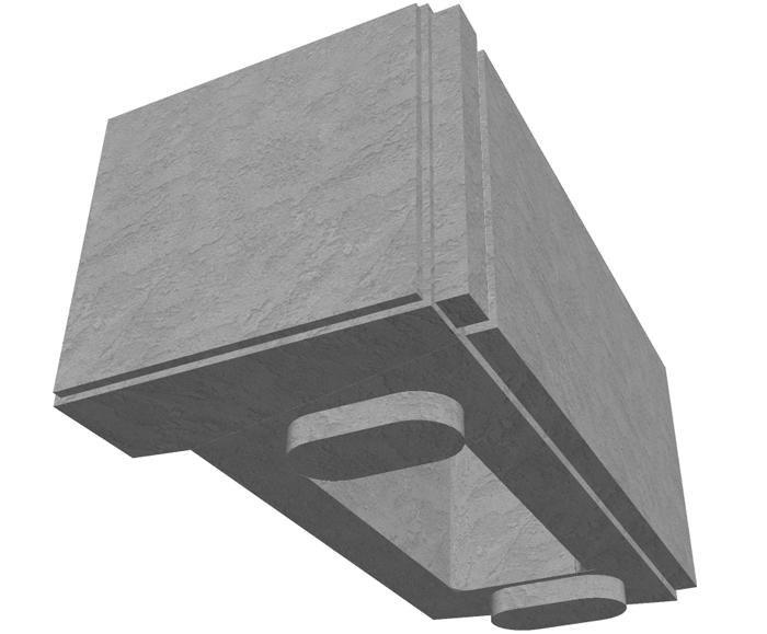 MaxumStone Hollow Core Retaining Wall Corner Unit