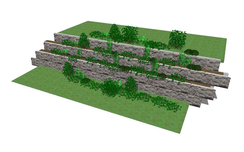 MaxumStone Planter Wall