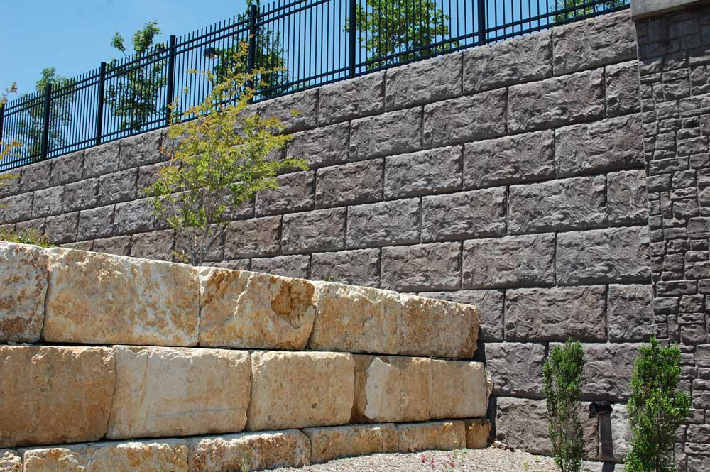 Magnumstone Retaining Wall Texas Boulder Face