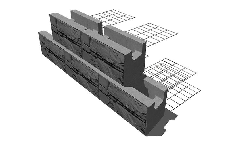 MaxumStone Steel Grid Wall