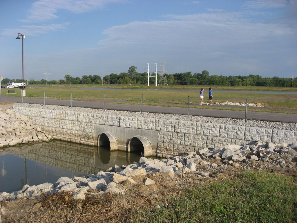Water Culvert Retaining Wall by MaxumStone