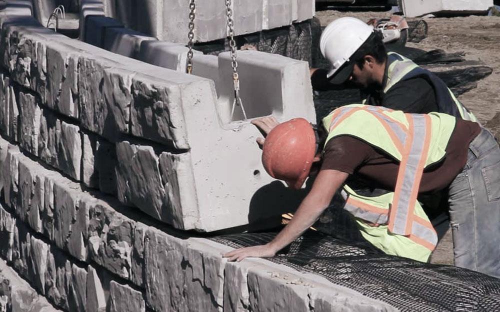 MaxumStone uses 40% less concrete